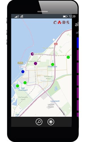 Landkaart - mobiel