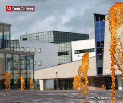 Drachtster fonteinen kleuren oranje