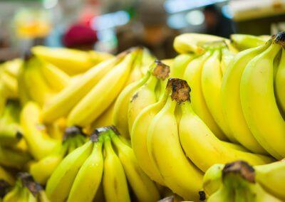 Perfectly ripened bananas