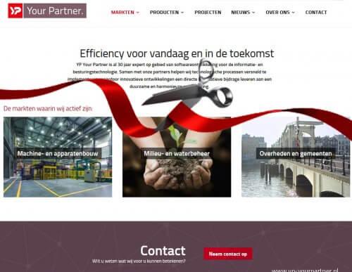 YP Your Partner nieuwe website met lint doorknippen - rendement - YP Your Partner BV
