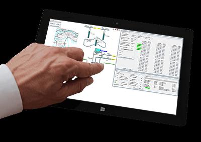 Schematisch overzicht in tablet - Afvalzorg - YP Your Partner