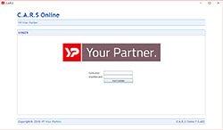 C.A.R.S browseronafhankelijk - inlogscherm YP Your Partner