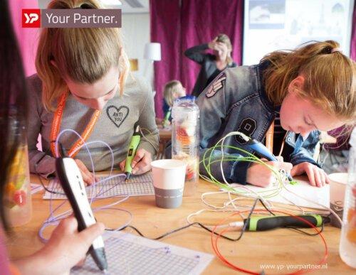 Girlsday - 3DPrint stiften - Innovatiecluster Drachten - YP Your Partner