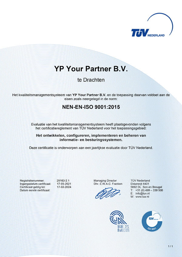 ISO 9001 - YP Your Partner