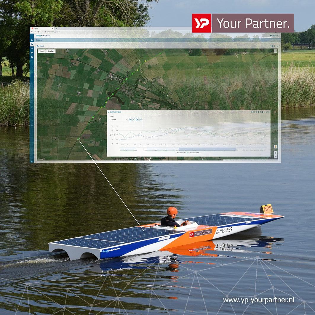 Whisper Power Solar boot gesponsord door YP Your Partner met C.A.R.S Techniek 1.1